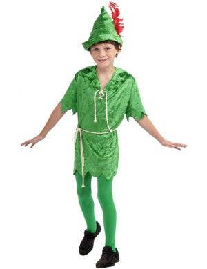 Boy's Peter Pan Costume Dress Up Front View