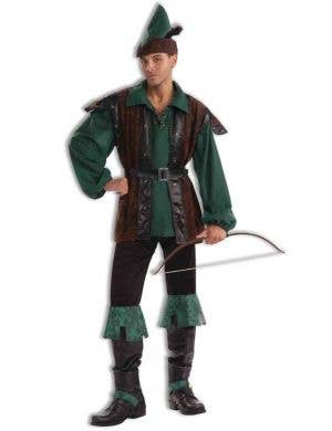Deluxe Men's Robin Hood Hunter Fancy Dress Costume