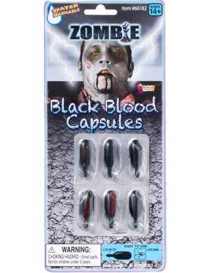 Zombie Black Blood Capsules Special Effects
