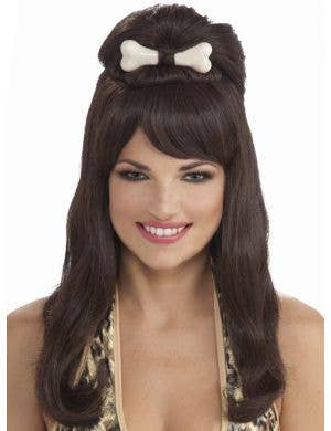 Prehistoric Princess Women's Long Brown Costume Wig