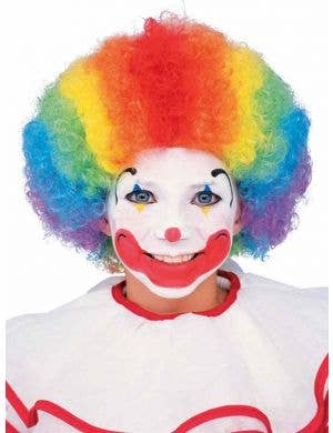 Rainbow Clown Kid's Afro Costume Wig