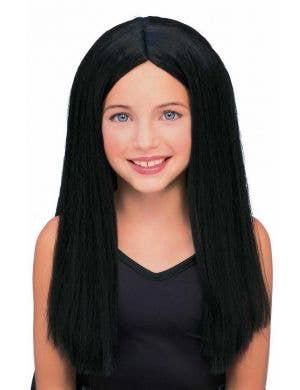 Long Straight Black Girls Costume Wig