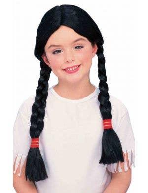 Native American Girls Black Plaited Wig