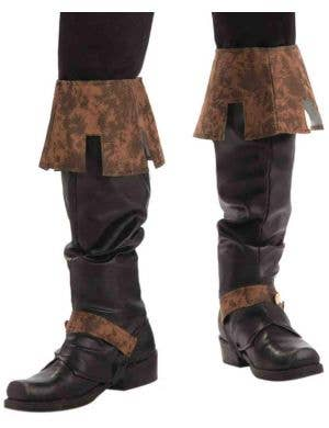 Medieval Renaissance King Deluxe Boot Covers