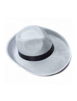 Panama 1920's White velour Gangster Hat