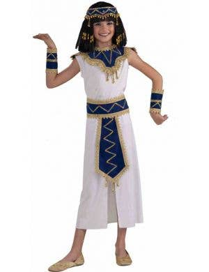 Queen of Egypt Girl's Cleopatra Costume Front View