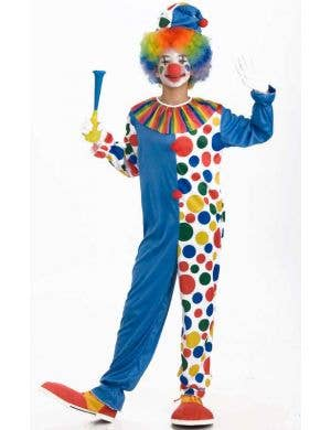 Teen Kid's Clown Circus Costume Front View