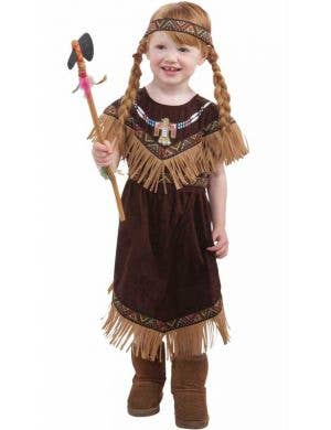 Toddler Girl's Native American Indian Princess Costume Front