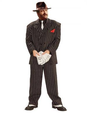 Roaring 20's Chicago Gangster Plus Size Men's Costume