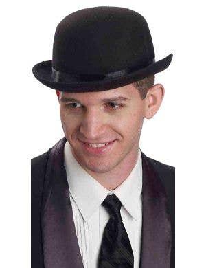 English Gentleman's Black Bowler Hat