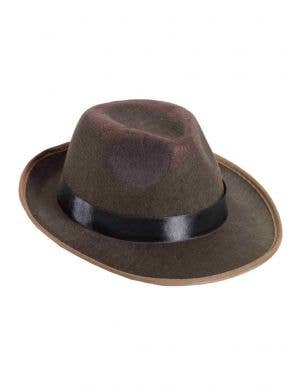 Dark Brown Fedora Hat Costume Accessory