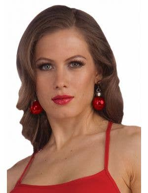 Christmas Bauble Red Earrings