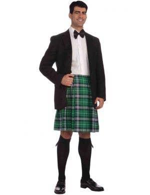 Scottish Green Gentleman's Costume Kilt