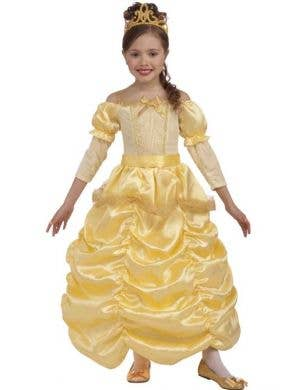 Girl's Belle Disney Princess Yellow Fancy Dress Costume Front