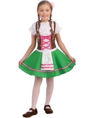 Girl's Hansel and Gretel German Fancy Dress Front View