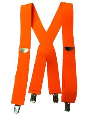 1980's Punk Rock Neon Orange Suspenders