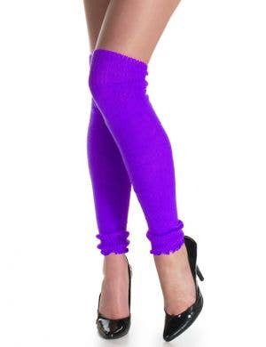 1980's Neon Purple Leg Warmers