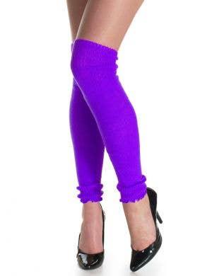 1980's Neon Purple Leg Warmers