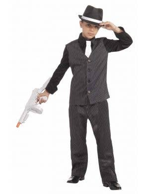 1920's Gangster Boy's Mobster Book Week Costume Front View