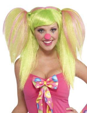 Circus Sweet Lollipop Lily Clown Costume Wig