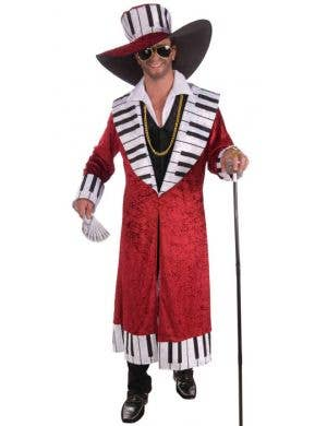 Piano Pimp Men's Red Mac Daddy Costume