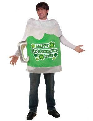 Novelty Green Beer Mug St. Patrick's Day Adult's Costume Main Image