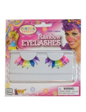 Rainbow Costume Eyelashes with Rhinestones