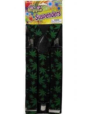 Marijuana Men's Novelty Suspenders Costume Accessory