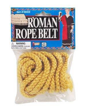 Roman Yellow Rope Belt Costume Accessory