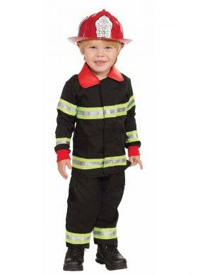Toddler Boy's Fireman Uniform Costume Front View