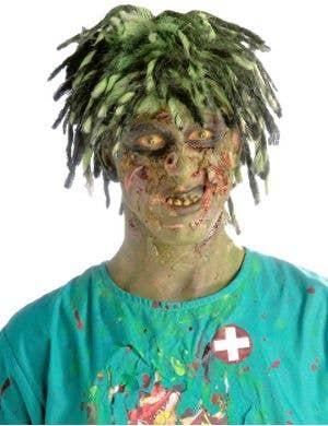 Biohazard Contaminated Zombie Men's Costume Wig