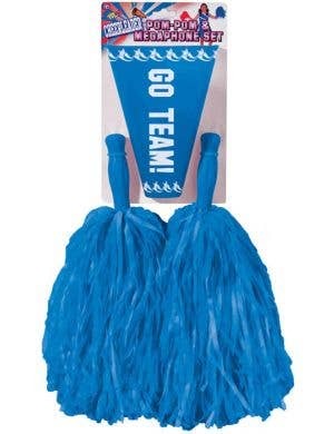 Cheerleader Pom Pom and Megaphone Set - Blue