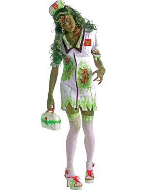 Biohazard Nurse Women's Halloween Zombie Costume