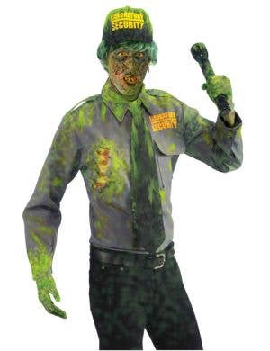 Biohazard Security Guard Men's Halloween Zombie Costume