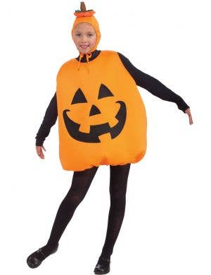 Jack O Lantern Kids Orange Pumpkin Halloween Costume