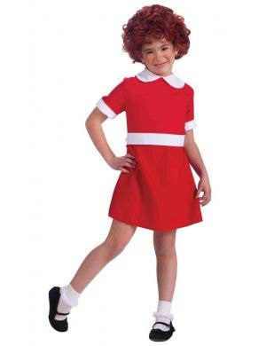 Girl's Orphan Annie Costume Dress Up Front View