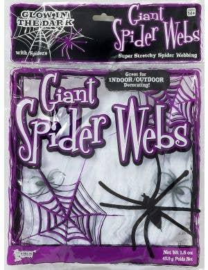 Giant Glow in the Dark Spider Web Halloween Decoration