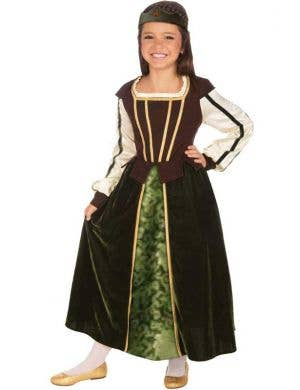 Girl's Medieval Maid Marion Costume Front View