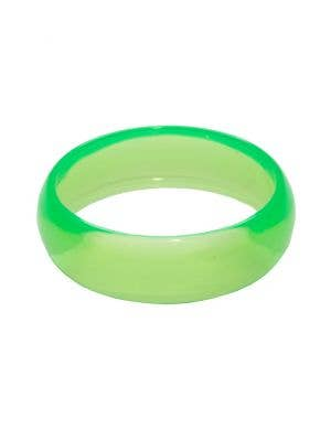 1980's Neon Green Bangle Transparent Costume Bracelet