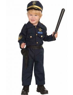 Boy's Toddler Police Officer Costume Dress Up Front View