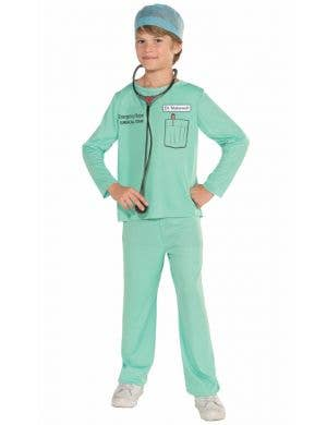 Boys Surgical Scrubs Doctor Fancy Dress Occupation Costume