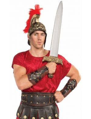 Roman Warrior Men's Arm Guards Costume Accessory