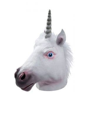 Unicorn Head Full Face Adult's Latex Costume Mask