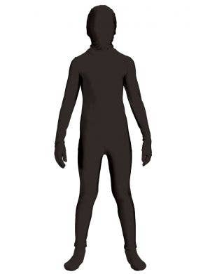 Boy's Black Lycra Skin Suit Dress Up Costume Front View