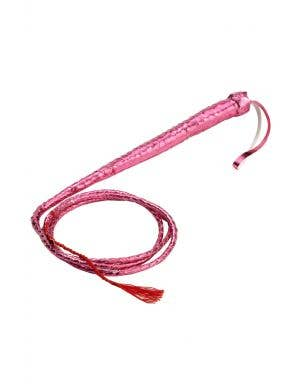 Sexy Metallic Pink Adults Costume Whip