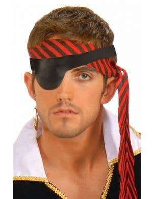 Basic Black Leather Look Pirate Eyepatch Costume Accessory