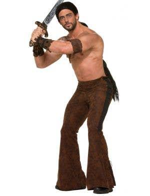 Men's Brown Dothraki Game Of Thrones Costume Pants Front