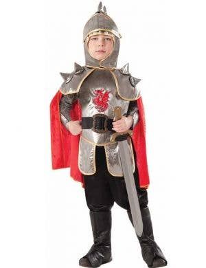 Boy's Medieval Knight Costume Fancy Dress Front View