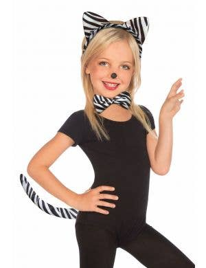 Cute Zebra Girls Costume Accessory Set
