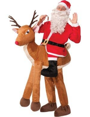 Funny Adult's Christmas Reindeer Novelty Ride On Costume